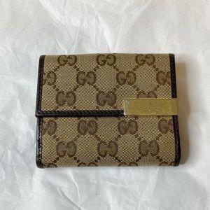 Gucci GG Monogram Canvas Bifold Wallet